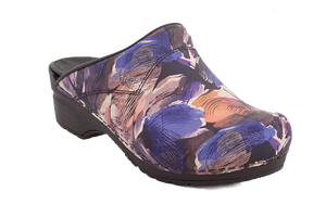 Sanita nurse clogs trixy purple diagonal
