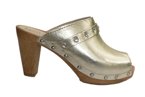 Sanita Penny fashion sandals with gold leather and diamantes - other side view