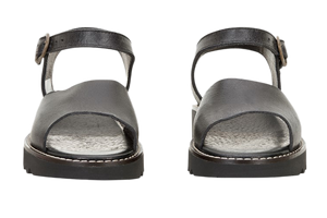 Sanita sandals - molly leather black - two front view