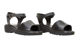 Sanita sandals - molly leather black - diagonal view two