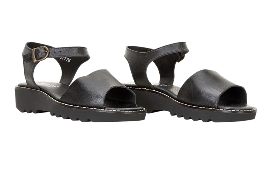 Sanita sandals - molly leather black - diagonal view