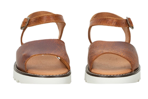 Sanita sandals - molly leather brown - front view
