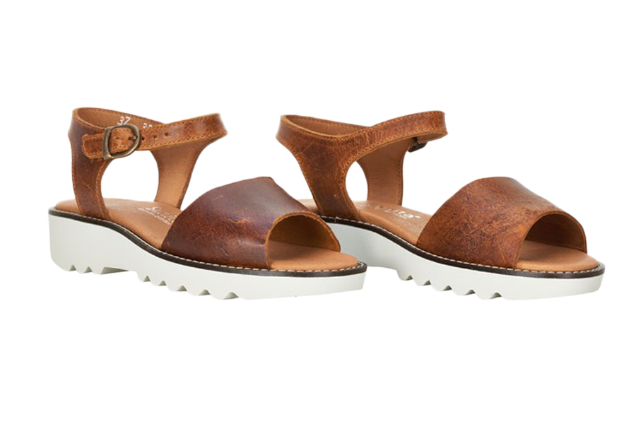 Sanita sandals - molly leather brown - diagonal view