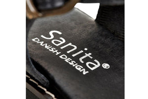Sanita sandals - molly leather black - close up view