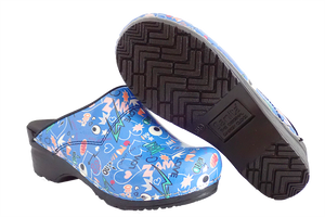 Sanita San Flex Shout Out clogs easy clean - diagonal with sole view