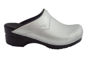 Sanita Silver San Flex Clogs easy clean for nurses - side view