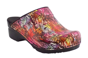 Sanita Sketch San Flex support nursing clogs - diagonal view
