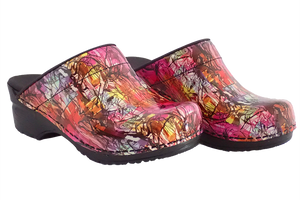 Sanita Sketch San Flex support nursing clogs - diagonal two view