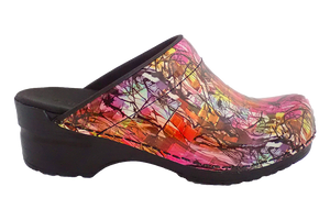 Sanita Sketch San Flex support nursing clogs - side view