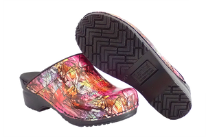 Sanita Sketch San Flex support nursing clogs - diagonal with sole view