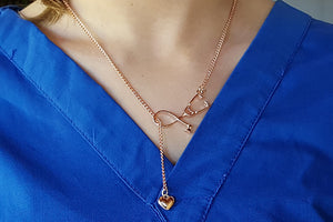 Stethescope Necklace in pretty rose gold | best nurse student gift