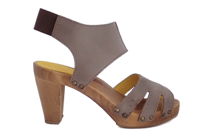 Sanita Viv Wood Sandals - side view