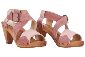 Sanita Izzy Wood Heel Sandals - two