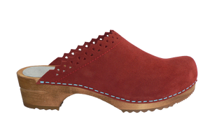 Sanita Coral Kat Suede Wood Clogs - side