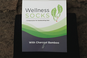 Wellness Charcoal Bamboo Compression Socks