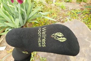 Charcoal bamboo compression socks - sole view