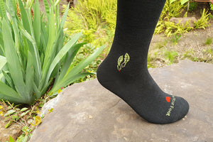Charcoal bamboo compression socks- side view