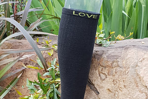 Charcoal bamboo compression socks - top view