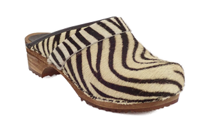 Sanita Zebra Wood clog