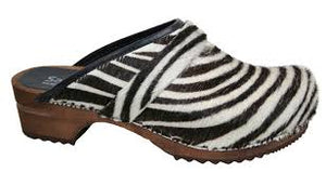 Sanita Zebra Wood clog side