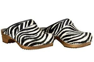 Sanita Zebra Wood clog two