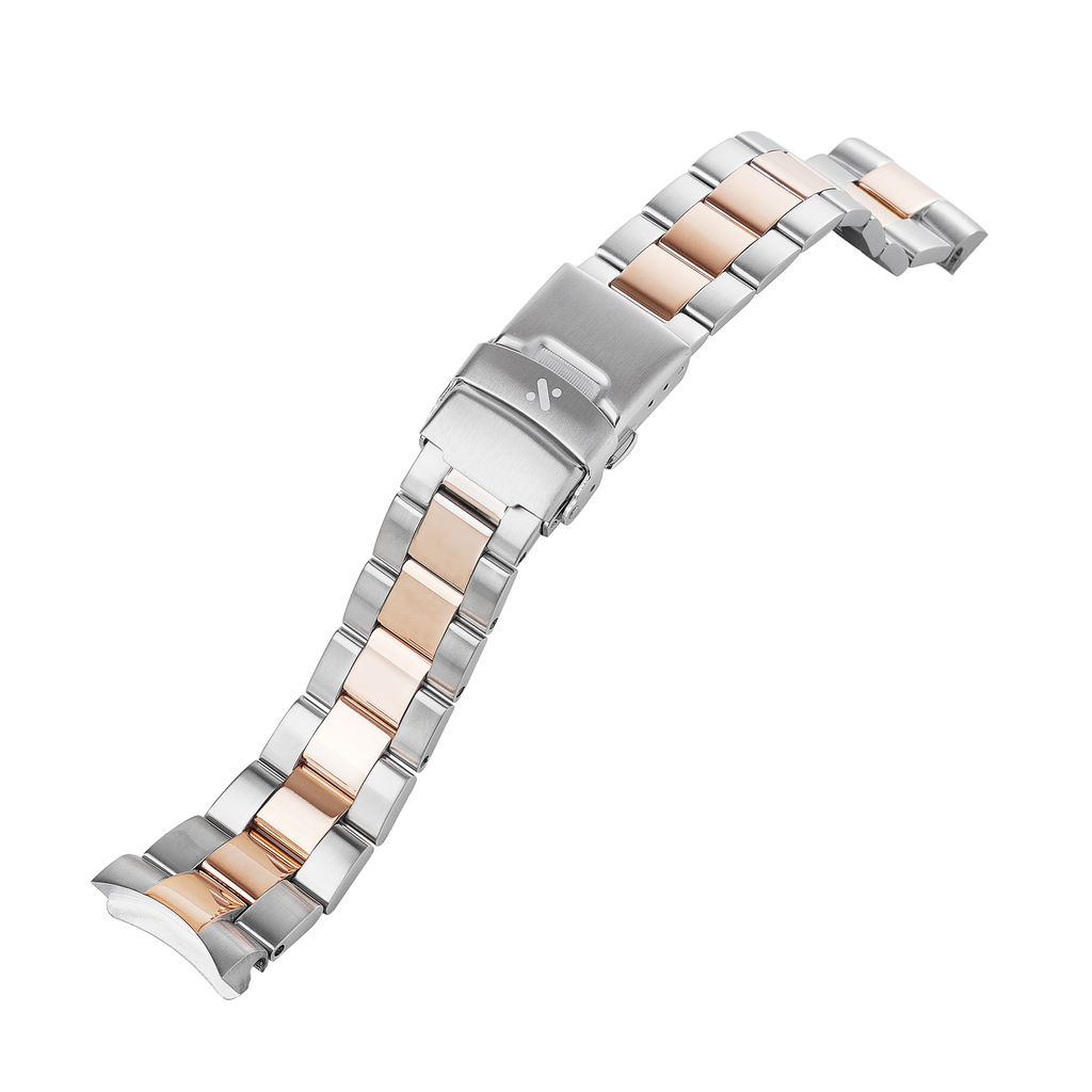 SKX007/SRPD Watch Bracelet: Oyster Two-Tone Rose Gold Finish