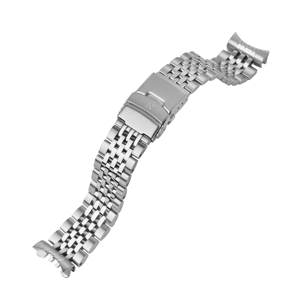 SRP Turtle Watch Bracelet: Beads of Rice Brushed/Polished Finish