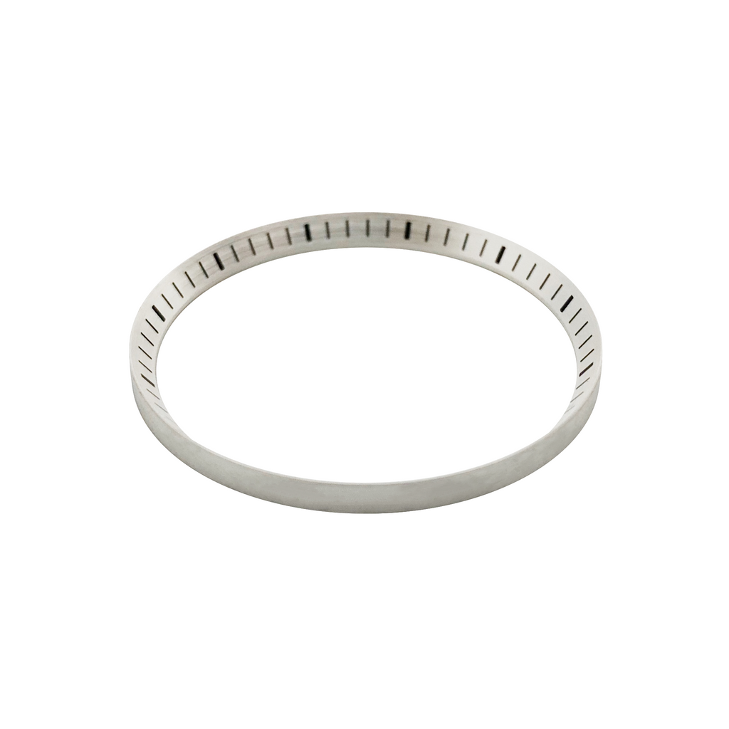 SKX Chapter Ring: Matte Silver Finish with Markers for SKX007, SKX009