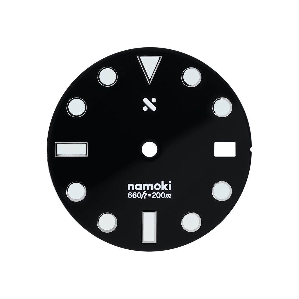 Watch Dial: Divemaster Enamel Black