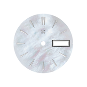 Watch Dial: Mother of Pearl White