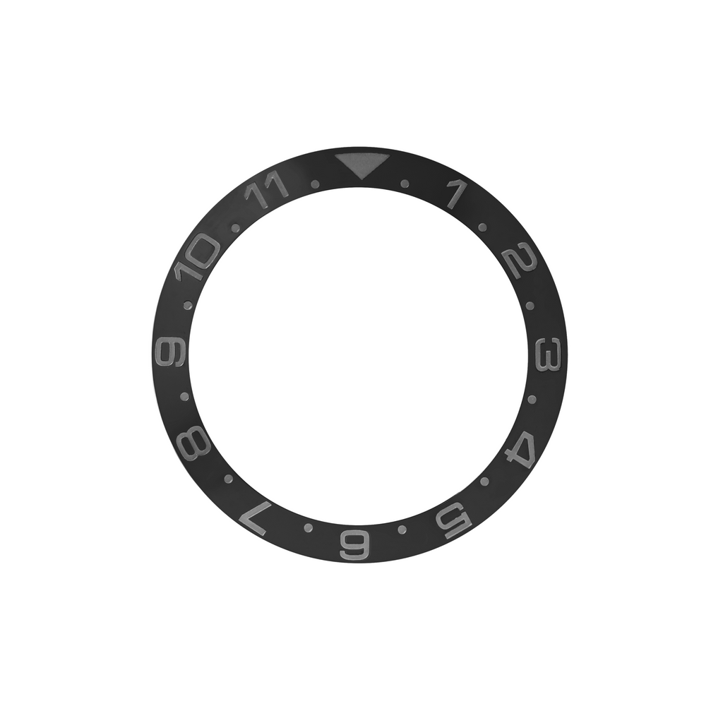 SKX Ceramic Bezel Insert: Dual Time style Black/Black (Stealth) for SKX007 SKX009