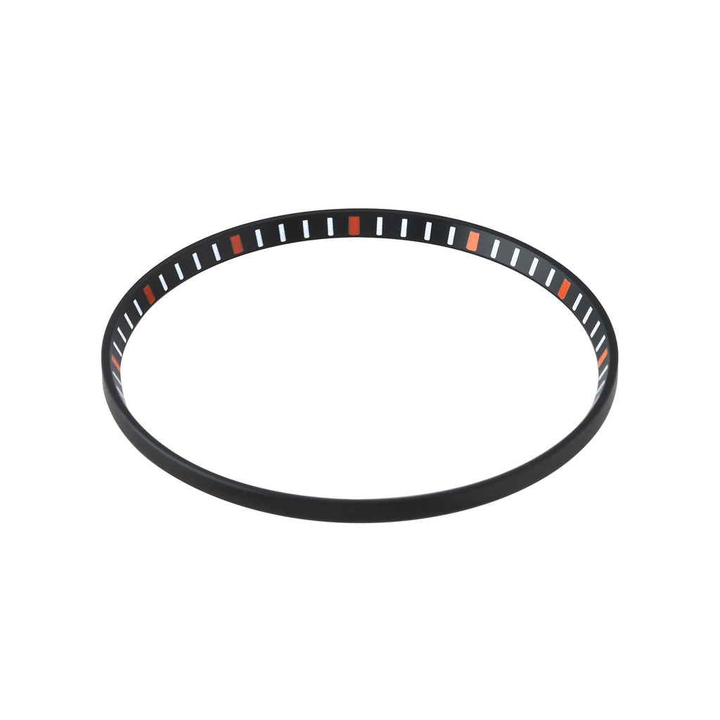 SKX013 Chapter Ring: Matte Black Finish with Orange Markers