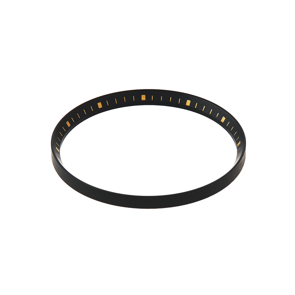 SKX007/SRPD Chapter Ring: Matte Black Finish with Gold Markers