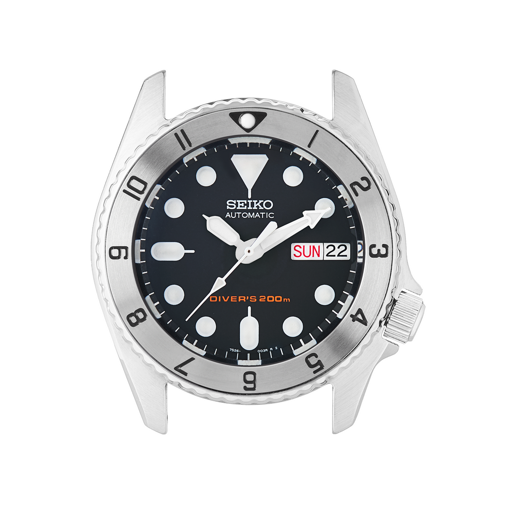 SKX013 Steel Bezel Insert: Dual Time Mk2 Black Triangle
