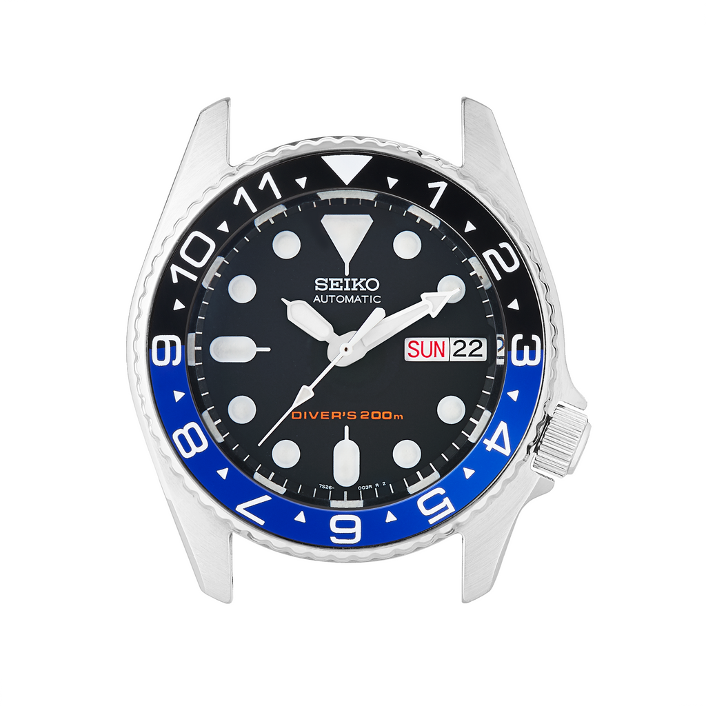 SKX013 Ceramic Bezel Insert: Dual Time Style Black/Blue (Batman)