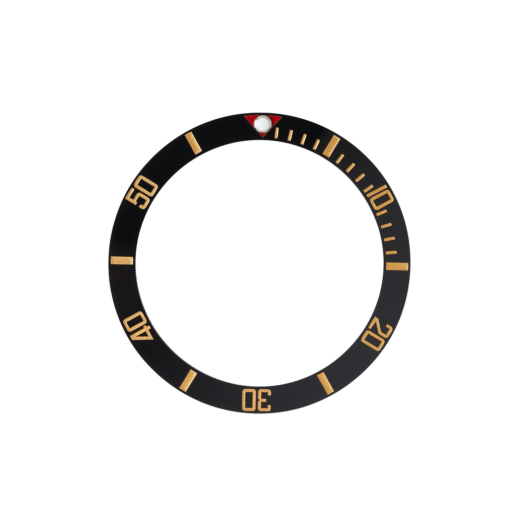 SKX013 Ceramic Bezel Insert: BB58 style Black/Gold