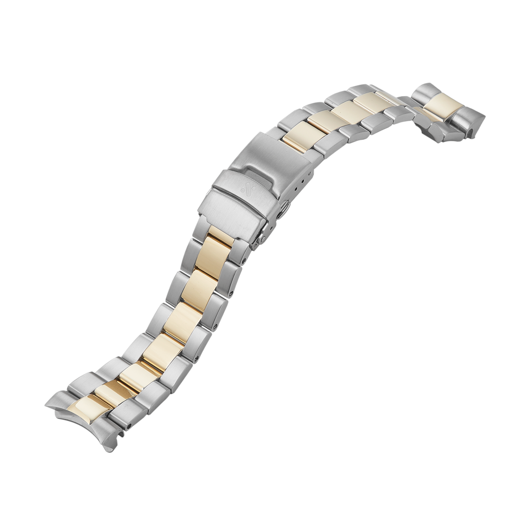SKX007/SRPD Watch Bracelet: Oyster Two-Tone Gold Finish