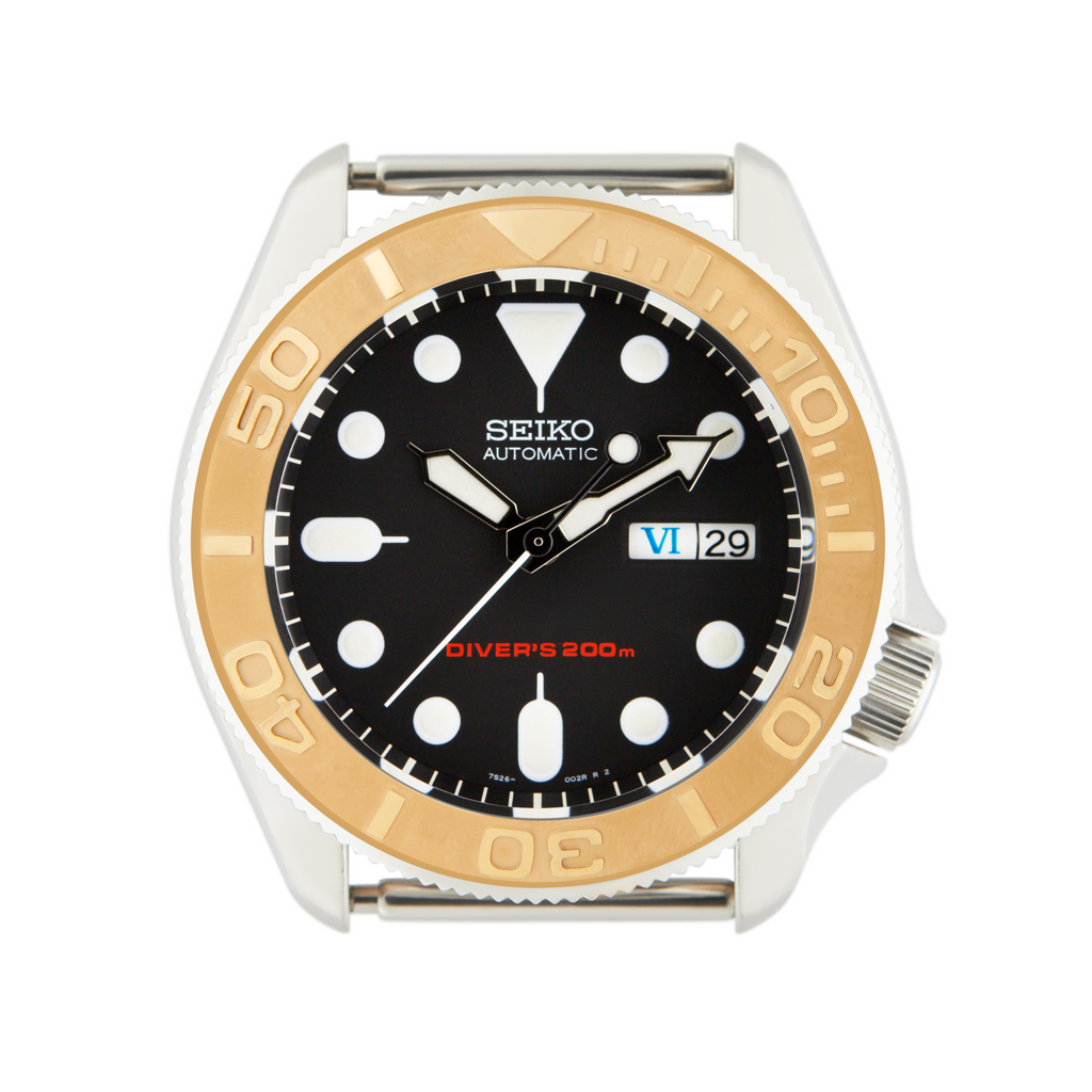 SKX Ceramic Bezel Insert: YM style Gold for SKX007 SKX009