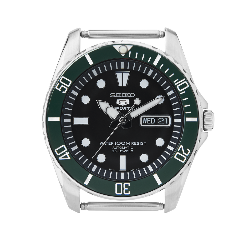 SNZF Urchin Ceramic Bezel Insert: Sub style Green/White for SNZF15, SNZF17, and SNZF22