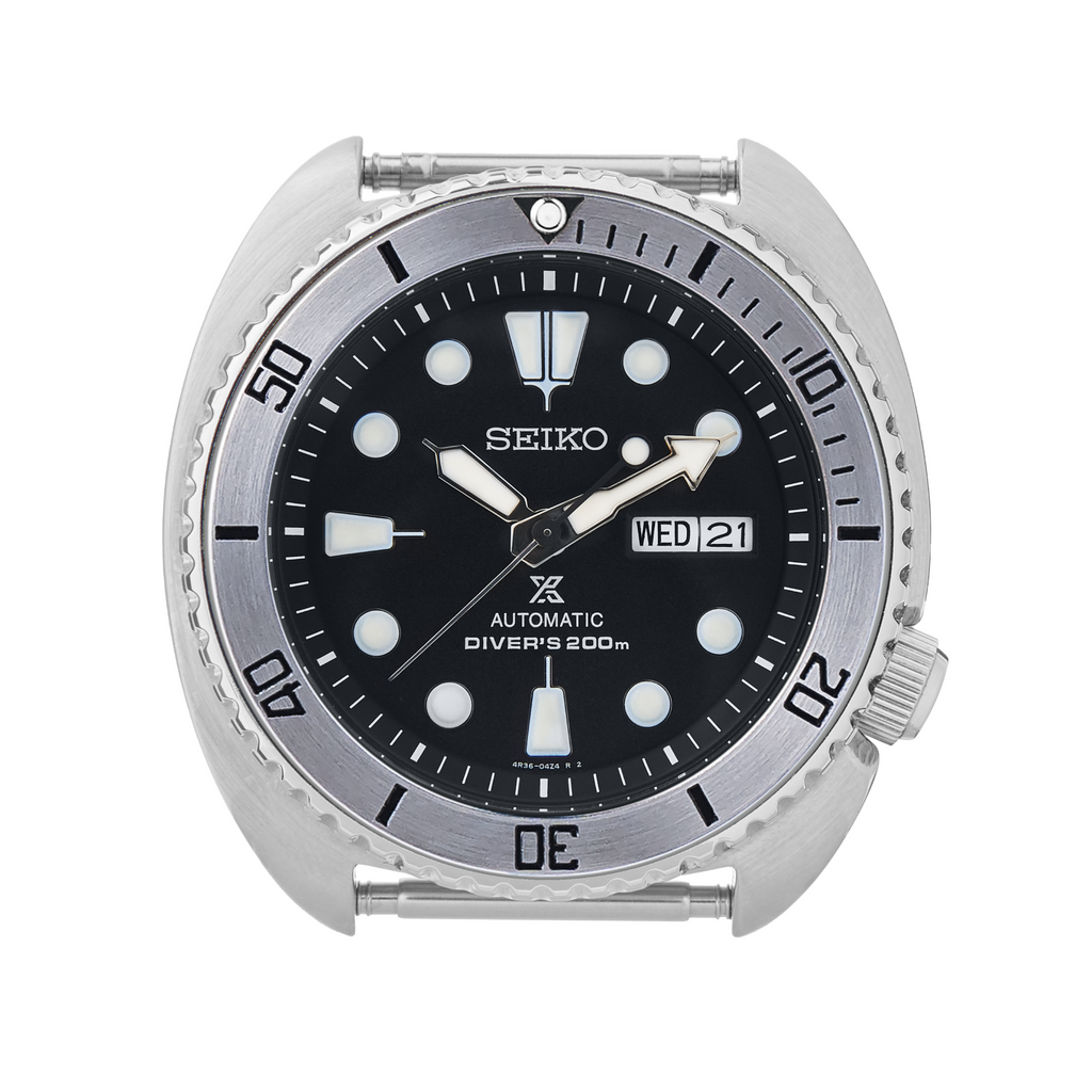 SRP Turtle Steel Bezel Insert: BB Style Black for Seiko Turtle Reissue