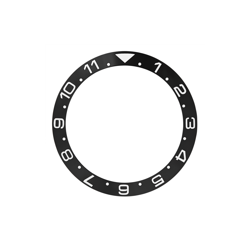 SKX Ceramic Bezel Insert: Dual Time style Black/White for SKX007 SKX009