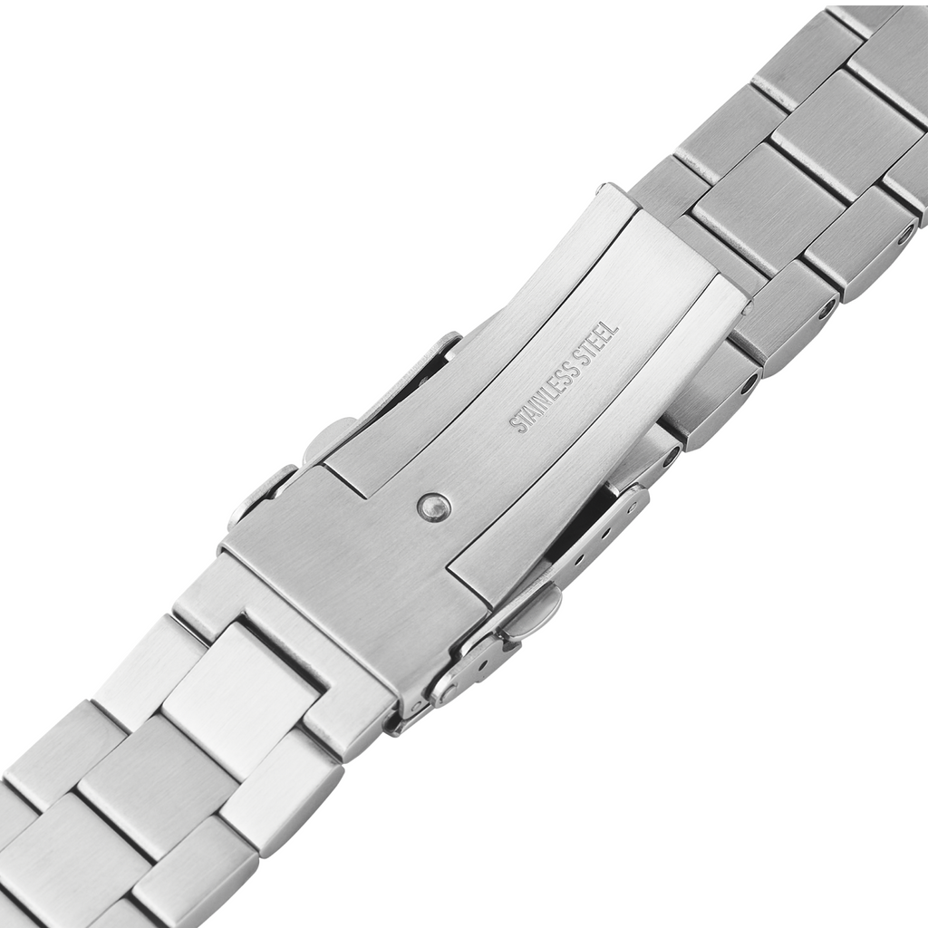 Samurai Watch Bracelet: Hexad Brushed Finish Milled Clasp