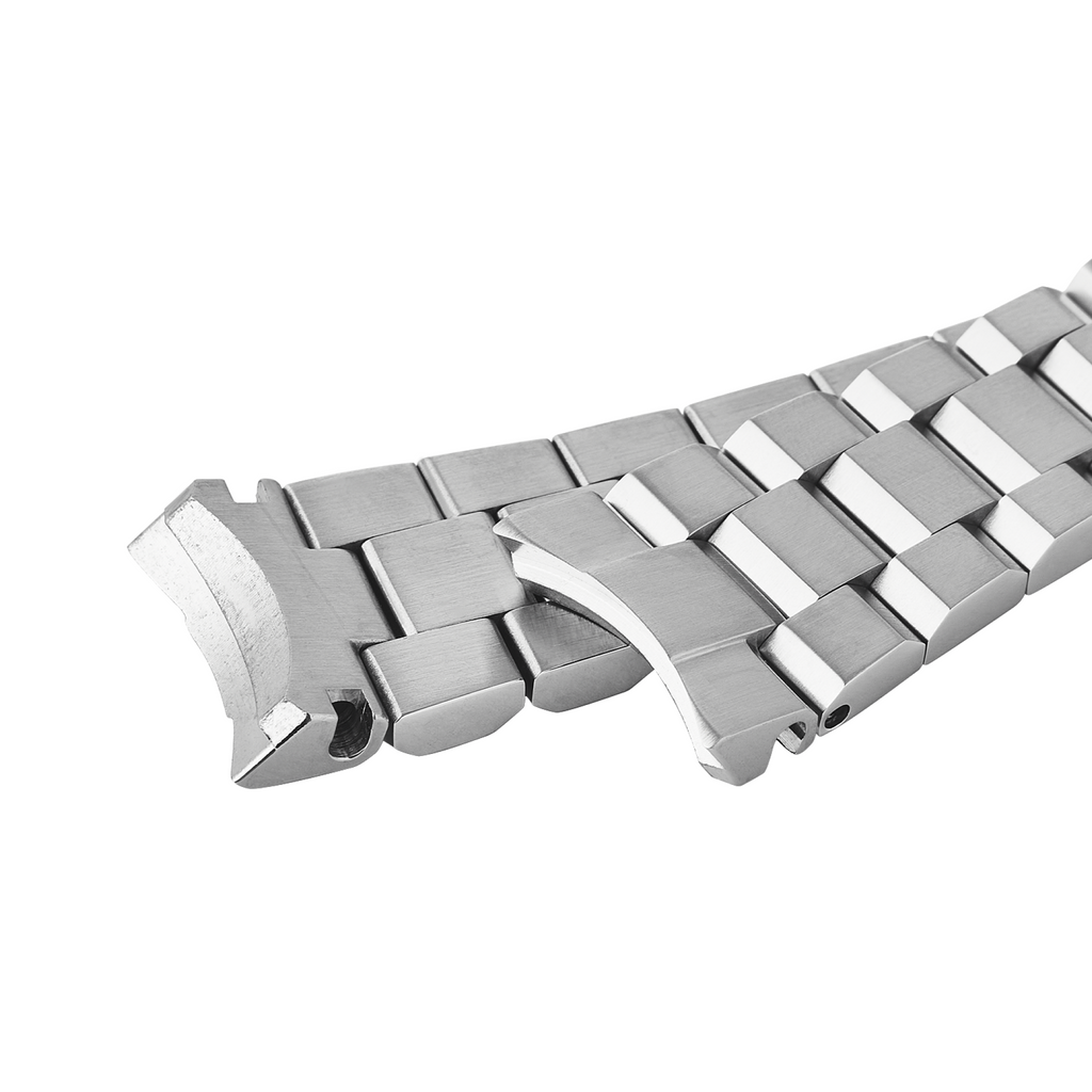 Samurai Watch Bracelet: Hexad Brushed Finish Solid End Links