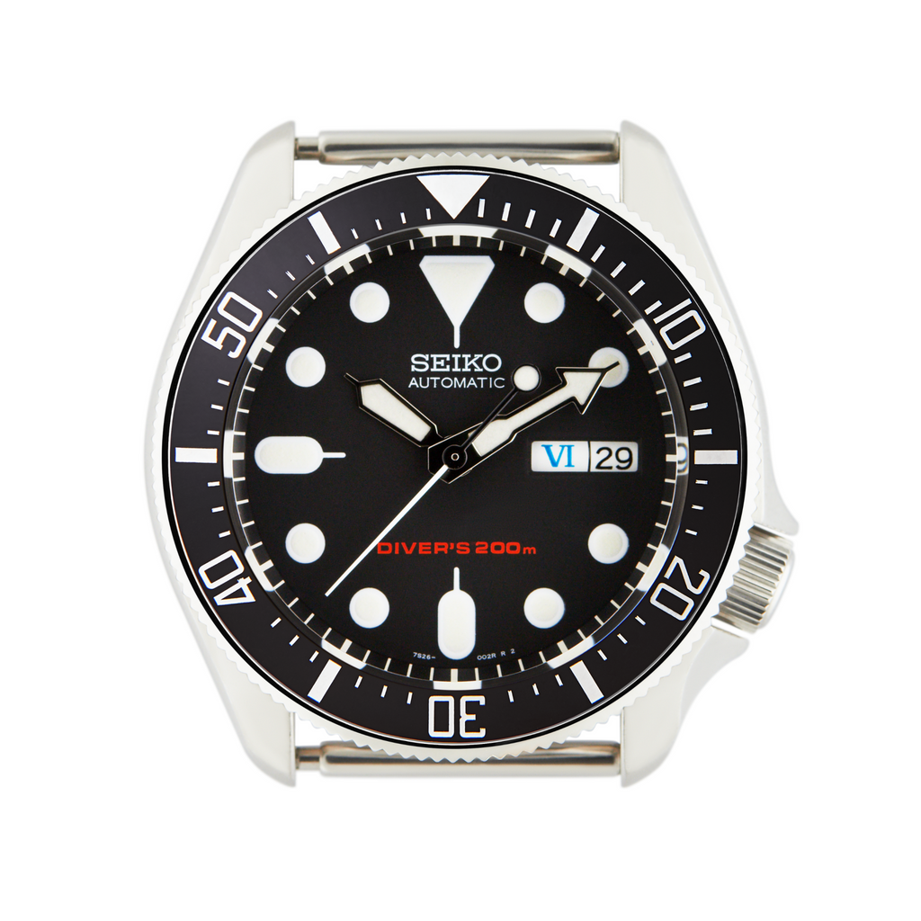 SKX Lumed Ceramic Bezel Insert: DSSD style Black/White for SKX007 SKX009