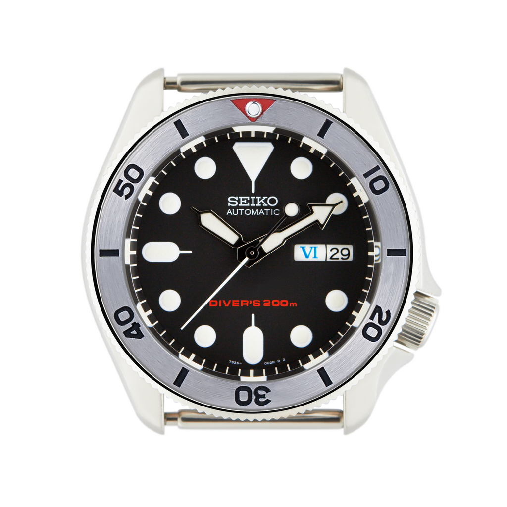 SKX Steel Bezel Insert: Vintage SKX Style Red for SKX007 SKX009