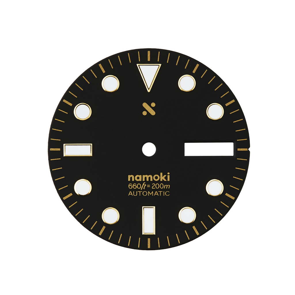 Watch Dial: Gilt Divemaster Black