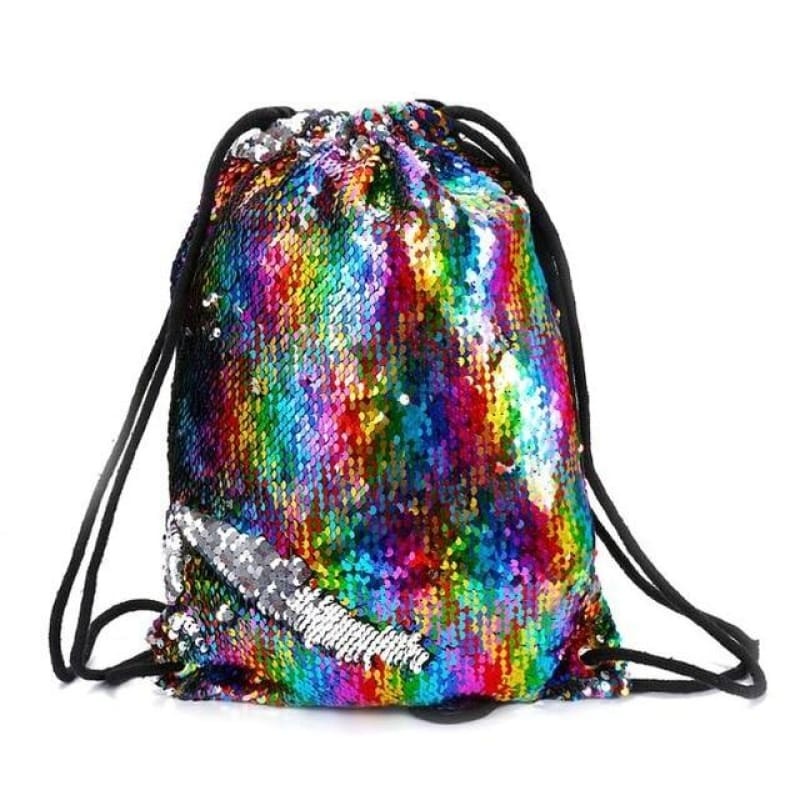 Drawstring Sequins Bag - music festival outfits