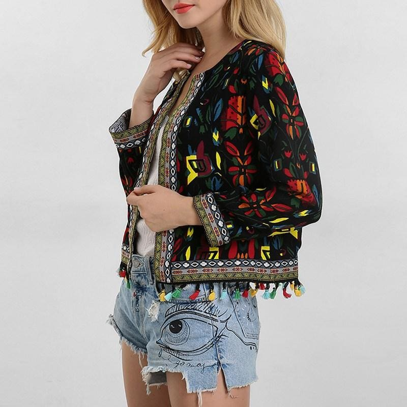 Embroidered Festive Jacket - music festival outfits