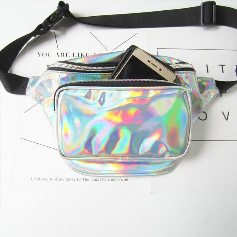 Holographic Fanny Pack - music festival outfits