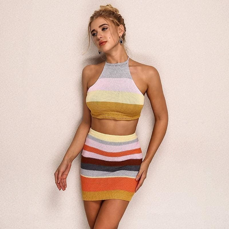 Knitted Two Piece Dress - music festival outfits